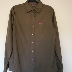 Cruel Girl Brown Button Up Western Shirt